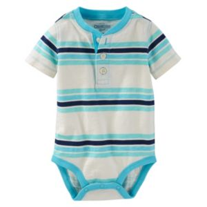 Baby Boy OshKosh B'gosh® Striped Henley Bodysuit