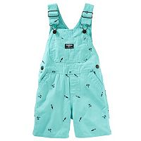 Baby Boy OshKosh B'gosh® Embroidered Canvas Shortalls