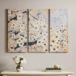Madison Park Gleeful Bloom Canvas Wall Art 3 pc Set