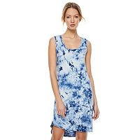 madden NYC Juniors' Tie-Dye Open Back Dress
