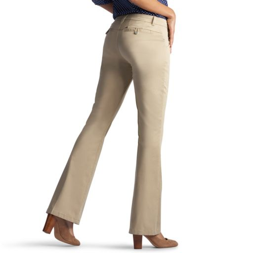 Petite Lee Publisher Curvy Fit Twill Bootcut Pants