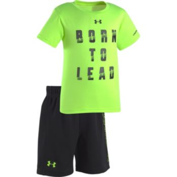 """Baby Boy Under Armour """"Born to Lead"""" Tee & Shorts Set"""