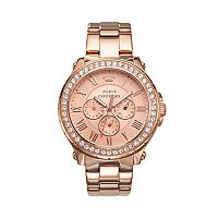 Juicy Couture Women's Crystal Pedigree Rose Gold Tone Watch