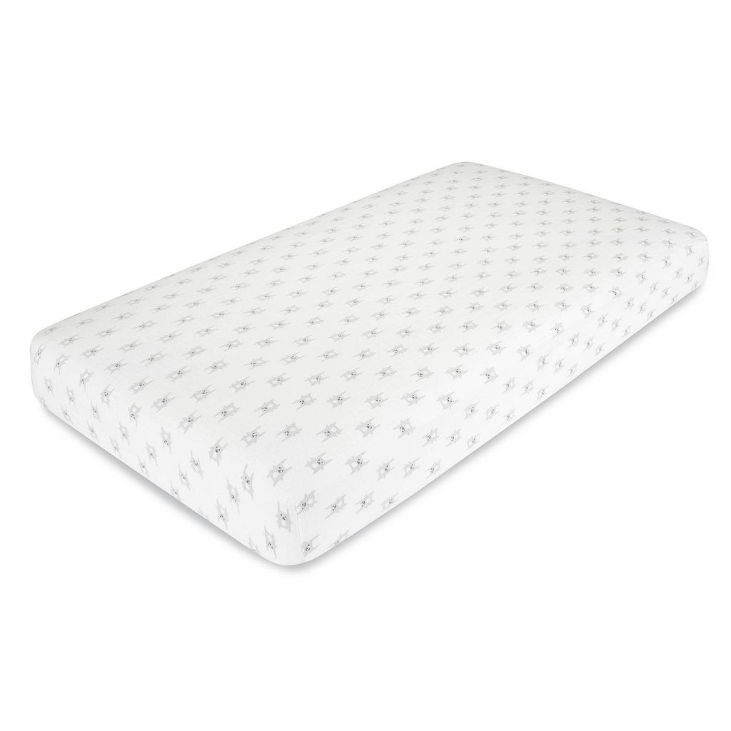 aden by aden + anais Flannel Muslin Bunny Fitted Crib Sheet