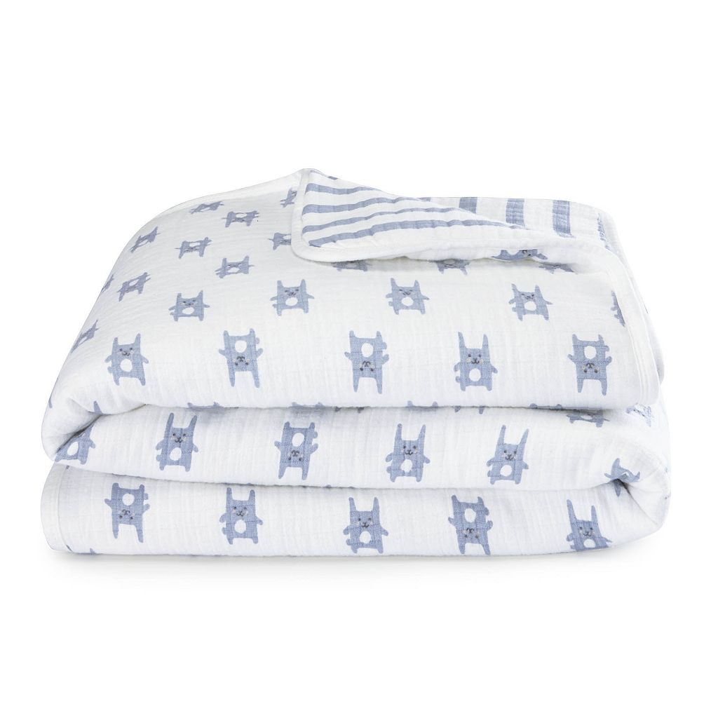 aden by aden + anais Muslin Flannel Bunny Blanket