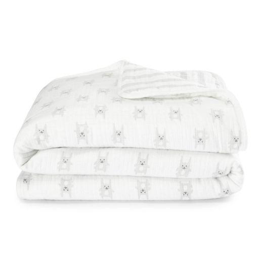aden by aden + anais Muslin Flannel Bunny Blanket