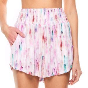 madden NYC Juniors' Smocked Waist Soft Shorts