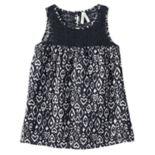 Girls 7-16 Mudd® Crochet Lace Yoke Patterned Tank Top