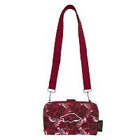 Arkansas Razorbacks Bloom Crossbody Wallet