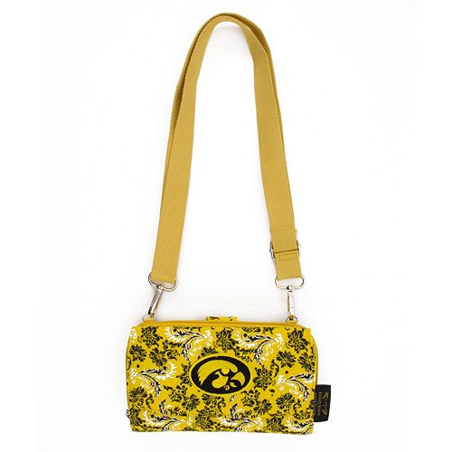 Iowa Hawkeyes Bloom Crossbody Wallet