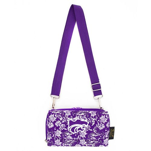 Kansas State Wildcats Bloom Crossbody Wallet