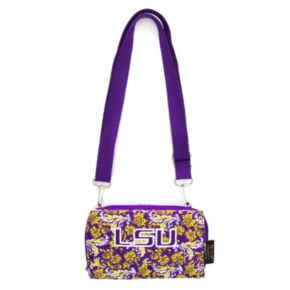 LSU Tigers Bloom Crossbody Wallet