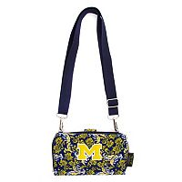 Michigan Wolverines Bloom Crossbody Wallet