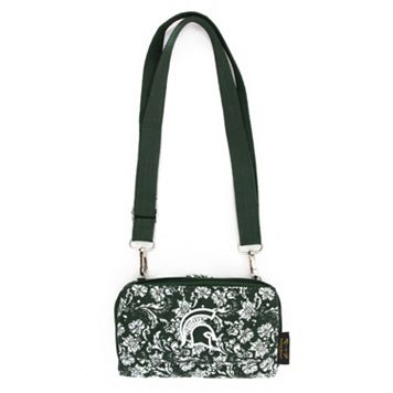 Michigan State Spartans Bloom Crossbody Wallet