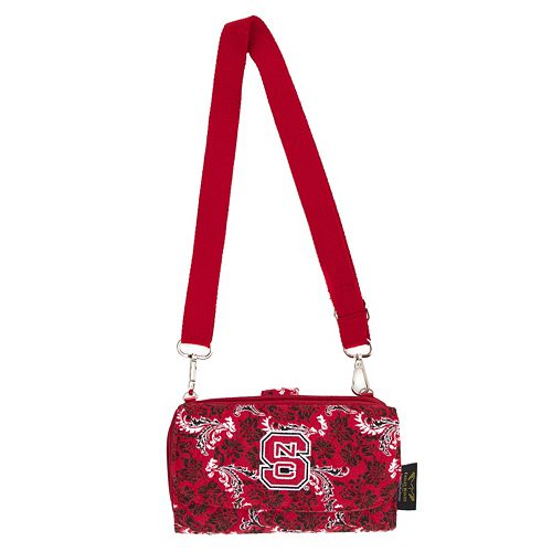 North Carolina State Wolfpack Bloom Crossbody Wallet