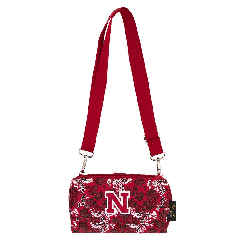 Nebraska Cornhuskers Bloom Crossbody Wallet