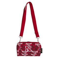 Nebraska Cornhuskers Bloom Crossbody Wallet