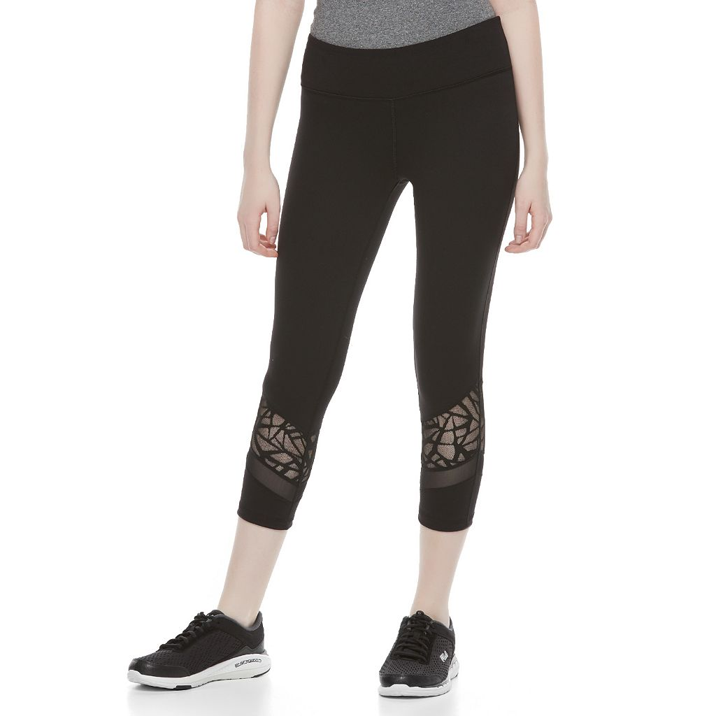 Juniors' SO® Splice Yoga Capri Leggings