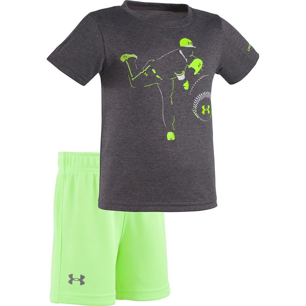 Baby Boy Under Armour Pitcher Tee & Mesh Shorts Set