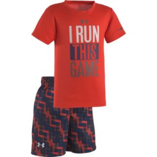"Baby Boy Under Armour ""I Run This Game"" Tee & Shorts Set"