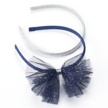 Girls 4-6x Carter's 2-pk. Glitter Tulle Headbands
