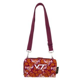 Virginia Tech Hokies Bloom Crossbody Wallet