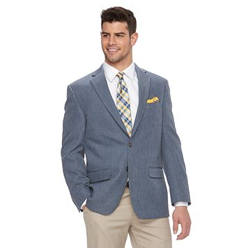 Men's Chaps Chambray Classic-Fit Sport Coat