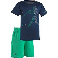 Baby Boy Under Armour Geometric Baseball Player Tee & Shorts Set