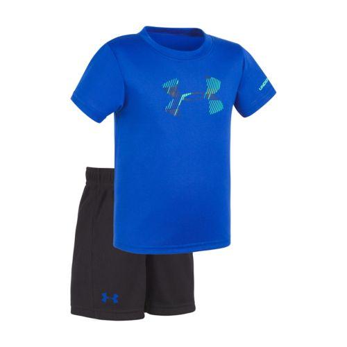 Baby Boy Under Armour Linear Logo Tee & Shorts Set