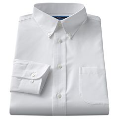 Big & Tall Croft & Barrow® Classic-Fit Solid Broadcloth Button-Down Collar Dress Shirt