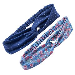Girls 4-6x Carter's 2-pk. Floral & Dot Headwraps