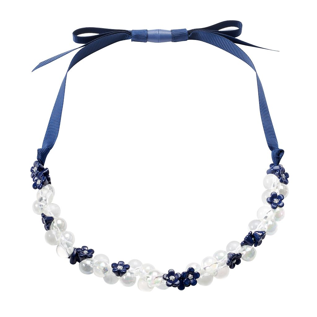 Girls 4-6x Carter's Flower Ribbon Necklace