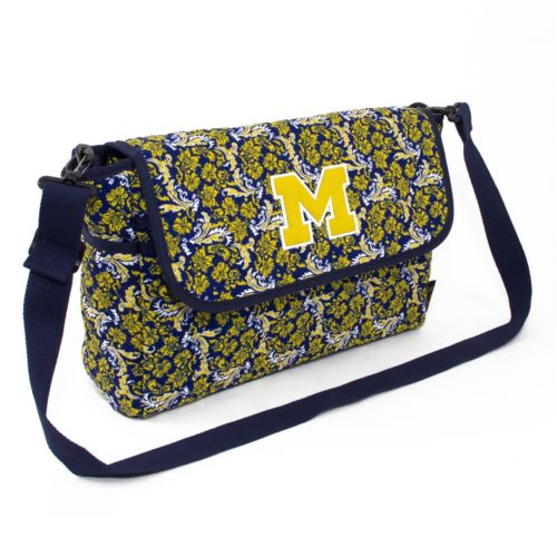 Michigan Wolverines Bloom Messenger Bag