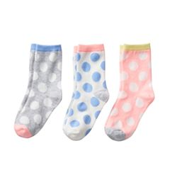 Girls 4-6 Carter's 3 pkDot Crew Socks