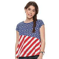 Juniors' Cloudchaser Patriotic Swing Tee