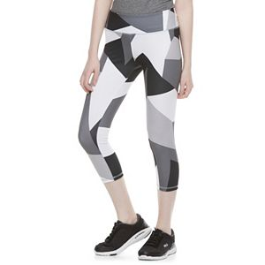 Juniors' SO® Geometric Yoga Capri Leggings