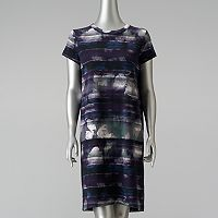 Women's Simply Vera Vera Wang Mixed-Media T-Shirt Dress