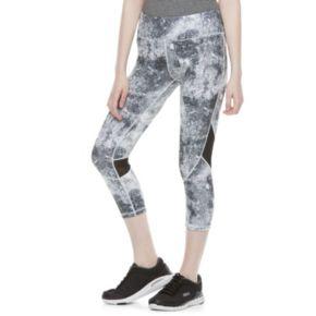 Juniors' SO® Mesh Inset Yoga Capri Leggings