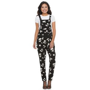Juniors' Candie's® Pleated Floral Jumpsuit Overalls