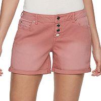Women's Jennifer Lopez Button Fly Cuffed Jean Shorts