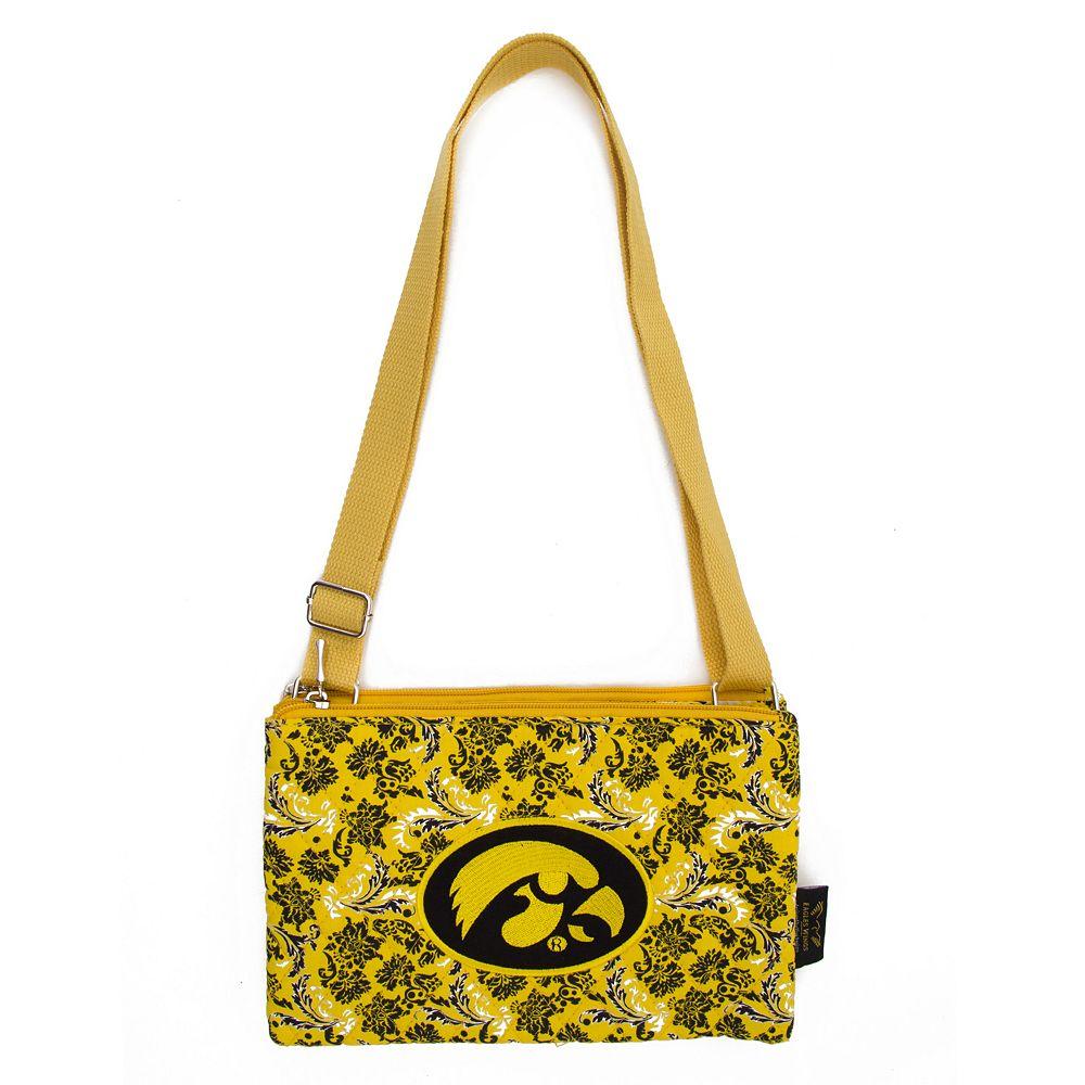 Iowa Hawkeyes Bloom Crossbody Bag