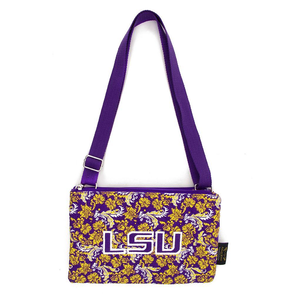 LSU Tigers Bloom Crossbody Bag