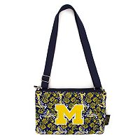 Michigan Wolverines Bloom Crossbody Bag