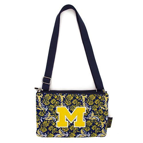 Michigan Wolverines Bloom Crossbody Bag