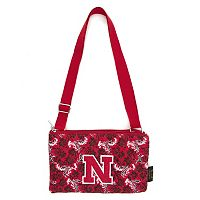 Nebraska Cornhuskers Bloom Crossbody Bag