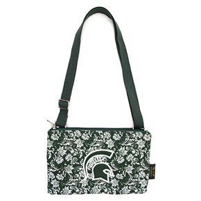 Michigan State Spartans Bloom Crossbody Bag