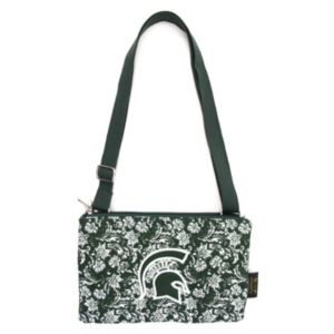 Michigan State Spartans Bloom Crossbody Bag