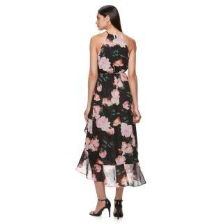 Petite Jennifer Lopez Floral Faux-Wrap Dress