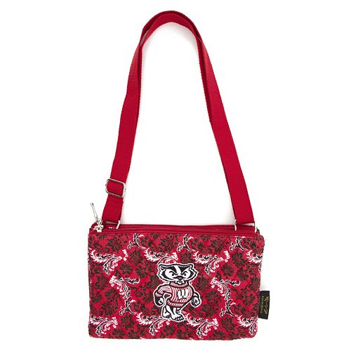 Wisconsin Badgers Bloom Crossbody Bag
