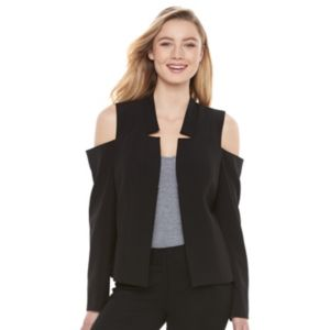 Juniors' Candie's® Cold Shoulder Blazer